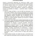 Comunicado ante la llegada de la segunda ola de Covid19 a la Comunidad de Madrid.