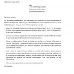 Carta de apoyo de la Plataforma de la Princesa de USUARIOS Y PACIENTES